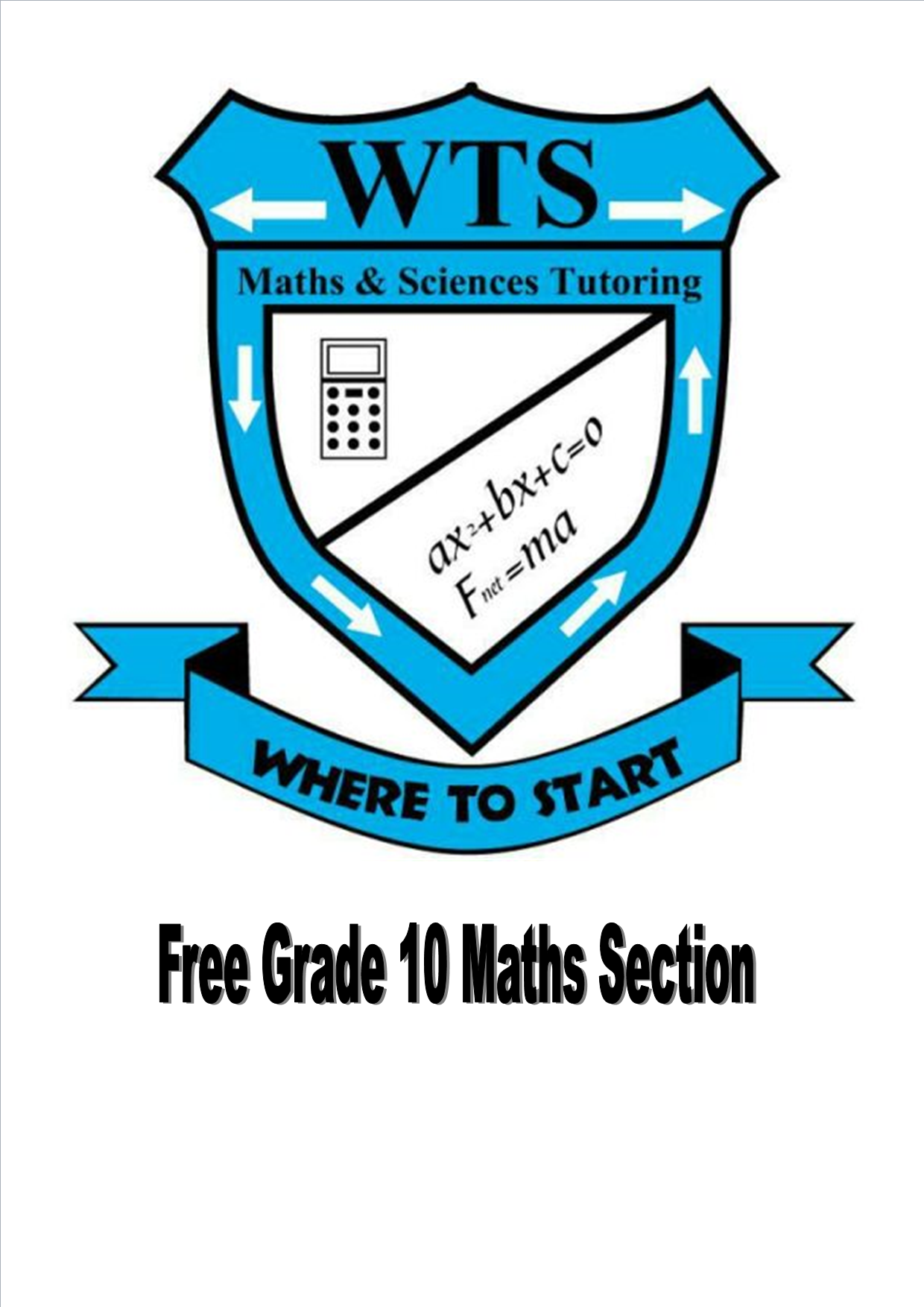 FREE GRADE 10 MATHS SECTION – Where To Start